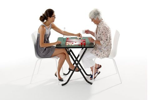 Table de jeu Backgammon pliable