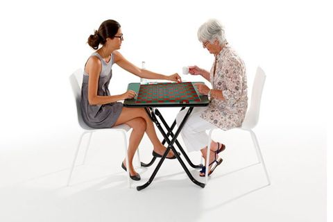 Table de jeu de dames pliable